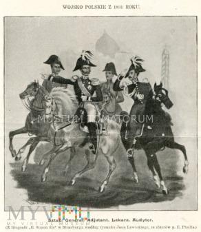 Duże zdjęcie Wojsko polskie 1831 roku - rys. Lewicki