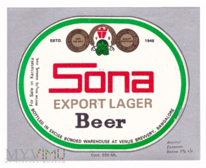 Bangalore, sona beer