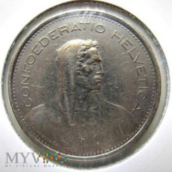 Duże zdjęcie 5 franków 1976 r. Szwajcaria