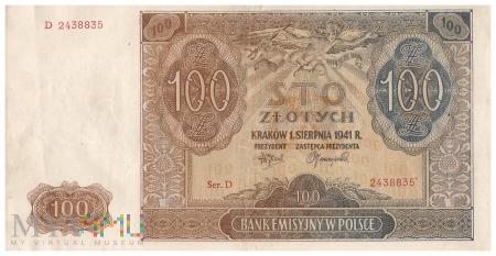 Polska - 100 złotych (1941)