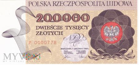 Polska - 200 000 złotych (1989)