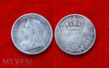 Wielka Brytania, 3 pence 1900