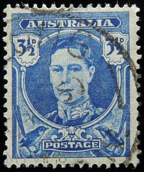 Australia 3 1/2d Jerzy VI