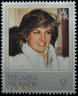 Wyspa Pitcairn 9c księżna Walii Diana