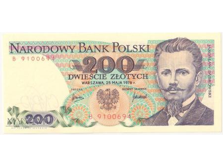 200 złotych 1976 rok seria B