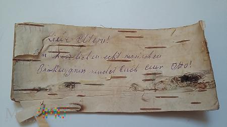 List Otto do rodziców