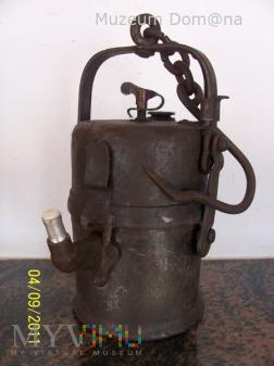 LAMPA GÓRNICZA KARBIDOWA TYP 850 z lat 30-tych