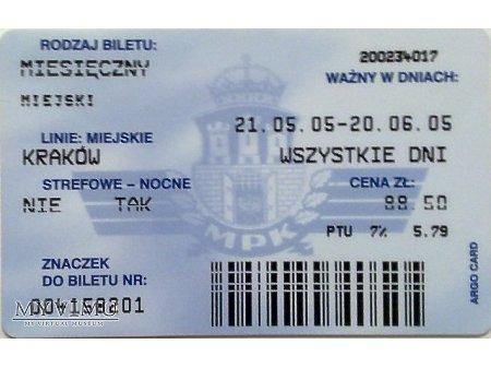 Bilet MPK Kraków 30