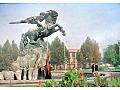 Armenia Erywań pomnik Dawida z Sassoun '89