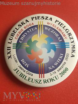 Przypinka XXII PP Lublin- Jasna Góra 2000