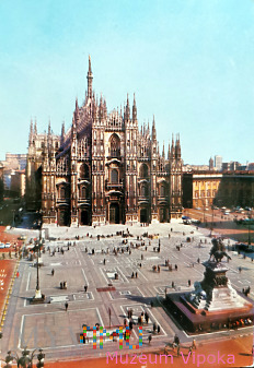 Mediolan - Wiktor Emanuel II + katedra