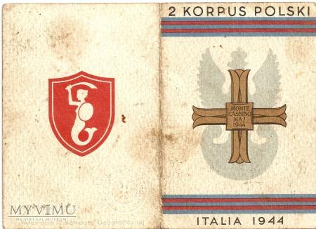 Legitymacja Krzyż Monte Cassino