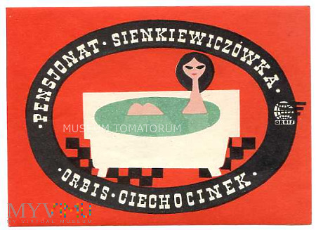 Nalepka hotelowa - Ciechocinek - Sienkiewiczówka