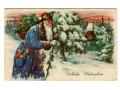 1940 Święty Mikołaj Blue Robe Santa Claus