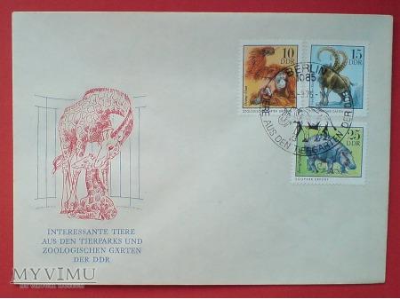 1975 Koperata znaczki Organgutan Hipopotam DDR