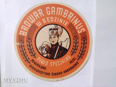 Etykieta piwna z browaru