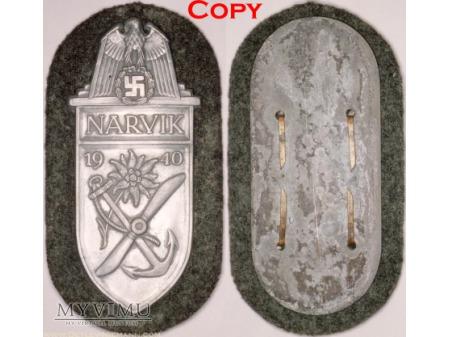 Duże zdjęcie Tarcza Naramienna Narwik Narvikschild