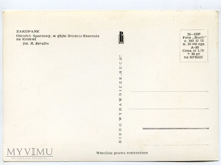 Zakopane. Średnia skocznia na Krokwi - 1972