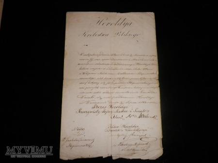 Dokumenty z Heroldyi Królestwa Polskiego