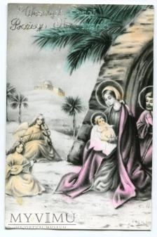 PRL Boże Narodzenie Święta Rodzina 1974 anioły