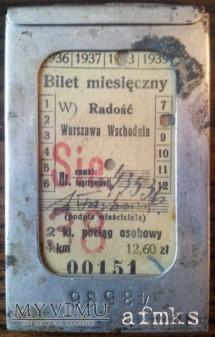 Bilet miesięczny Radość - Warszawa