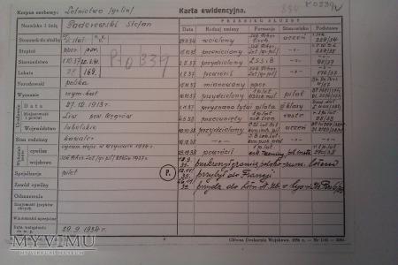 Karta Ewidencyjna ppor.Stefan Paderewskiego 1p.lot