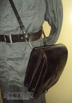 Oficerska torba polowa skórzana czarna