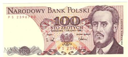 100 zł 1988r.