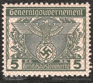 Gerichtskostenmarke 5 złotych