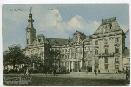 Warszawa - Plac Teatralny - Ratusz - 1922