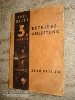 instrukcja obsługi Opel Blitz 3,6-3600 1938