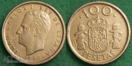 Hiszpania, 100 PESETAS 1992