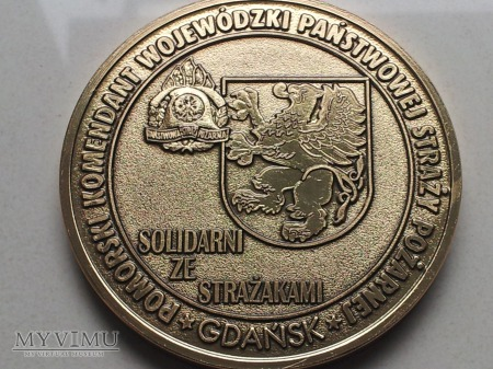 Duże zdjęcie Medal Solidarni Ze Strażakami
