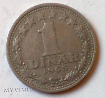 Moneta Jugosławia 1 Dinar 1965
