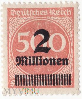 Deutches Reich 2 Millionen 1923