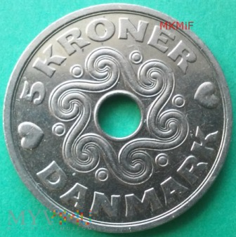 5 Kroner Dania 1998