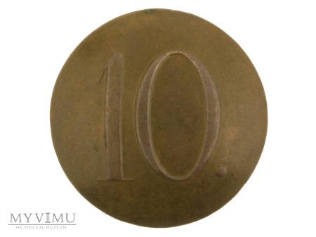 Guzik pułkowy z nr.10