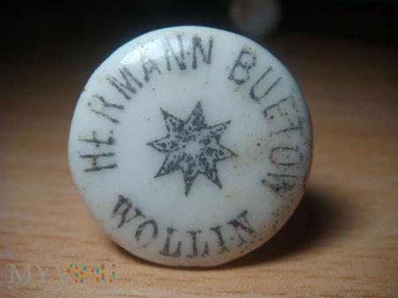 porcelanowy korek Hermann Buetow ,Wollin