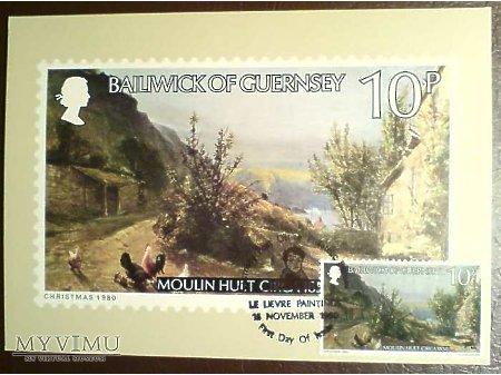 Bailiwick of Guernsey 1980 Karta Maximum Moulin