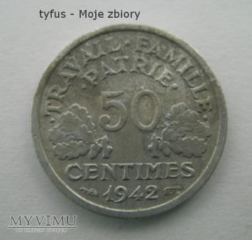 50 CENTIMES - Francja, Vichy (1942)