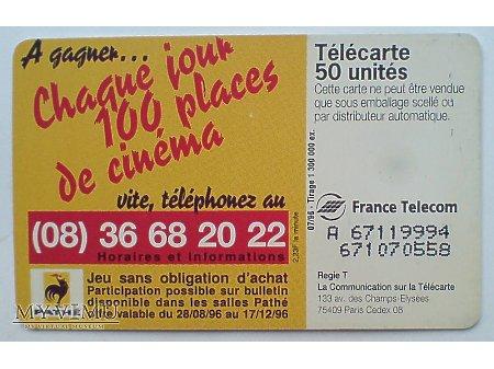 Pathé - France Telecom 1996 Karta telefoniczna