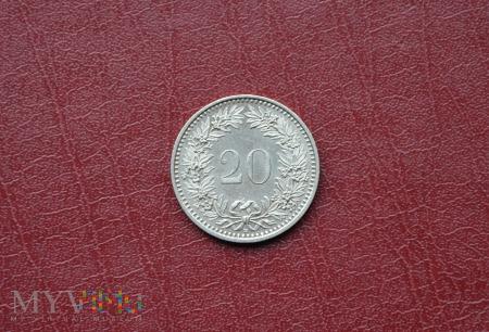 Moneta szwajcarska: 20 rappen