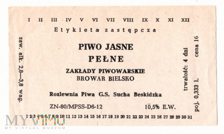 Etykieta zastępcza, Bielsko