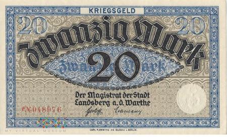 20 Mark 1918 r - Landsberg a.d.Warthe/ Gorzow Wlkp