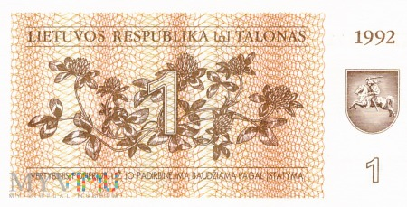 Litwa - 1 talon (1992)