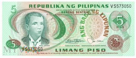 Filipiny - 5 pesos (1978)