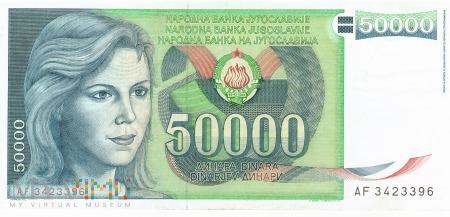 Jugosławia - 50 000 dinarów (1988)