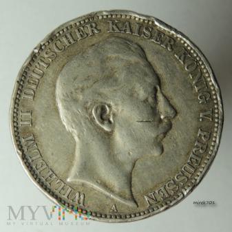3 marki Wilhelm II 1909 A