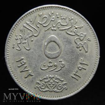 Egipt 5 piastrów 1972