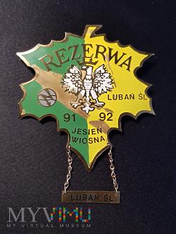 Pamiątkowa odznaka Rezerwy Wiosna 91 - 92
